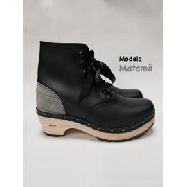 Greyish black souk with gray coco heel