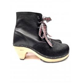 Souk black combined heel