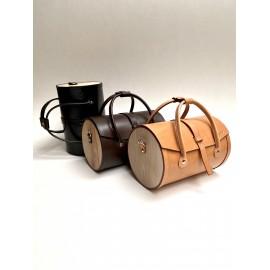 Round wooden bag
