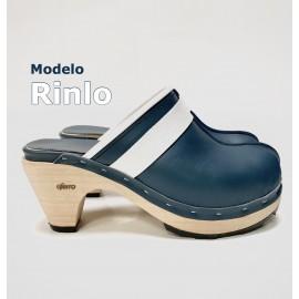 Barefoot Blue heel. Mod. Rinlo