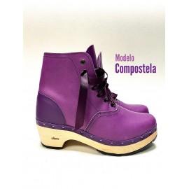 purple clog with purple heel