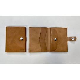 Large natural color wallet with claps
