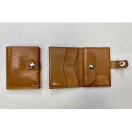 Small natural color wallet with claps