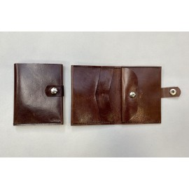 Large brownl color wallet with claps