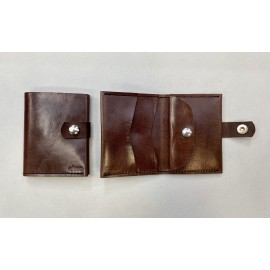 Small brown color wallet with claps